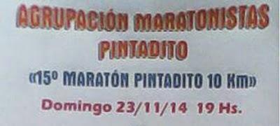 10k Maratón Pintadito (Artigas, 23/nov/2014)