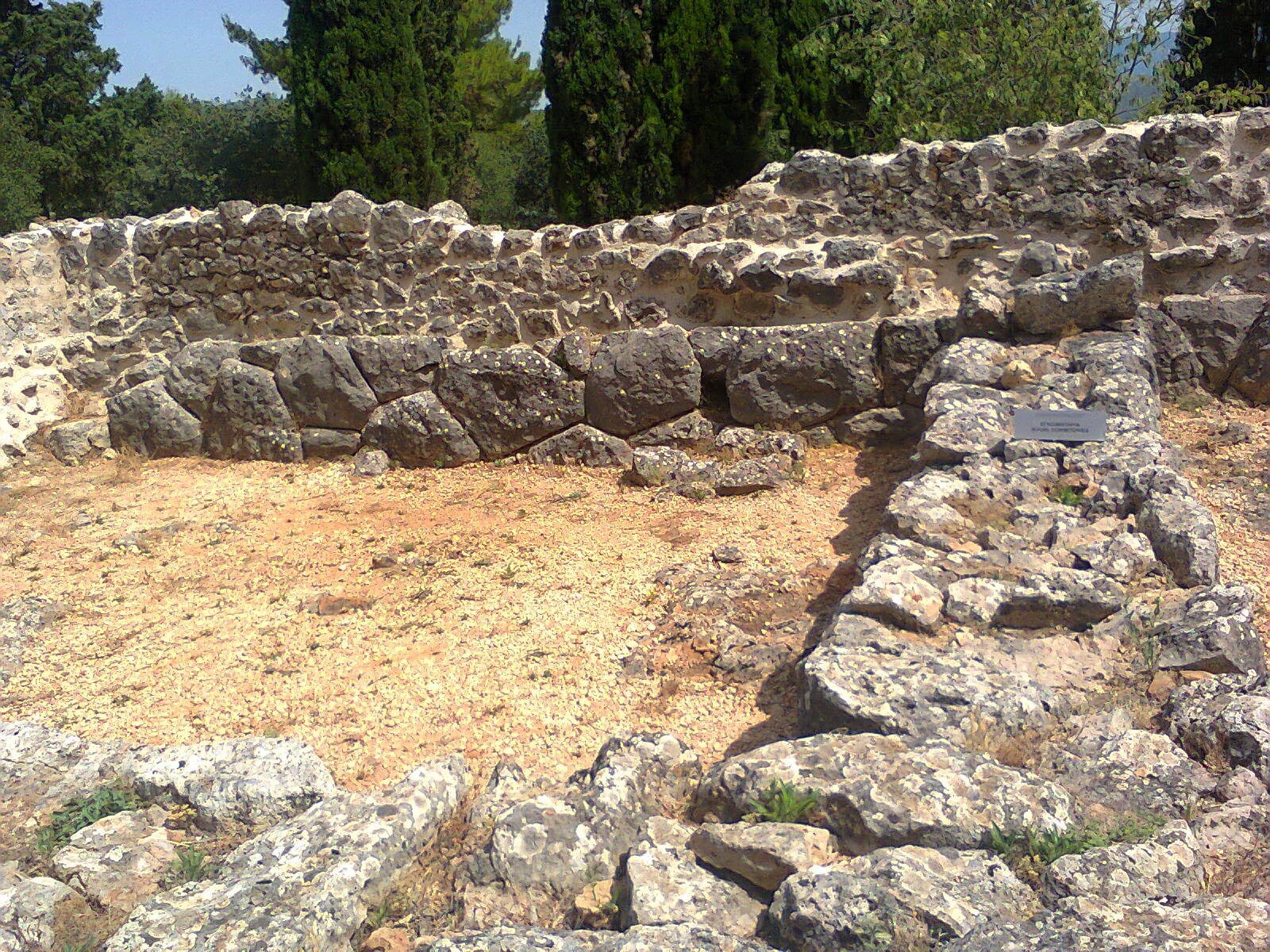 Necromanteion ruins in Greece