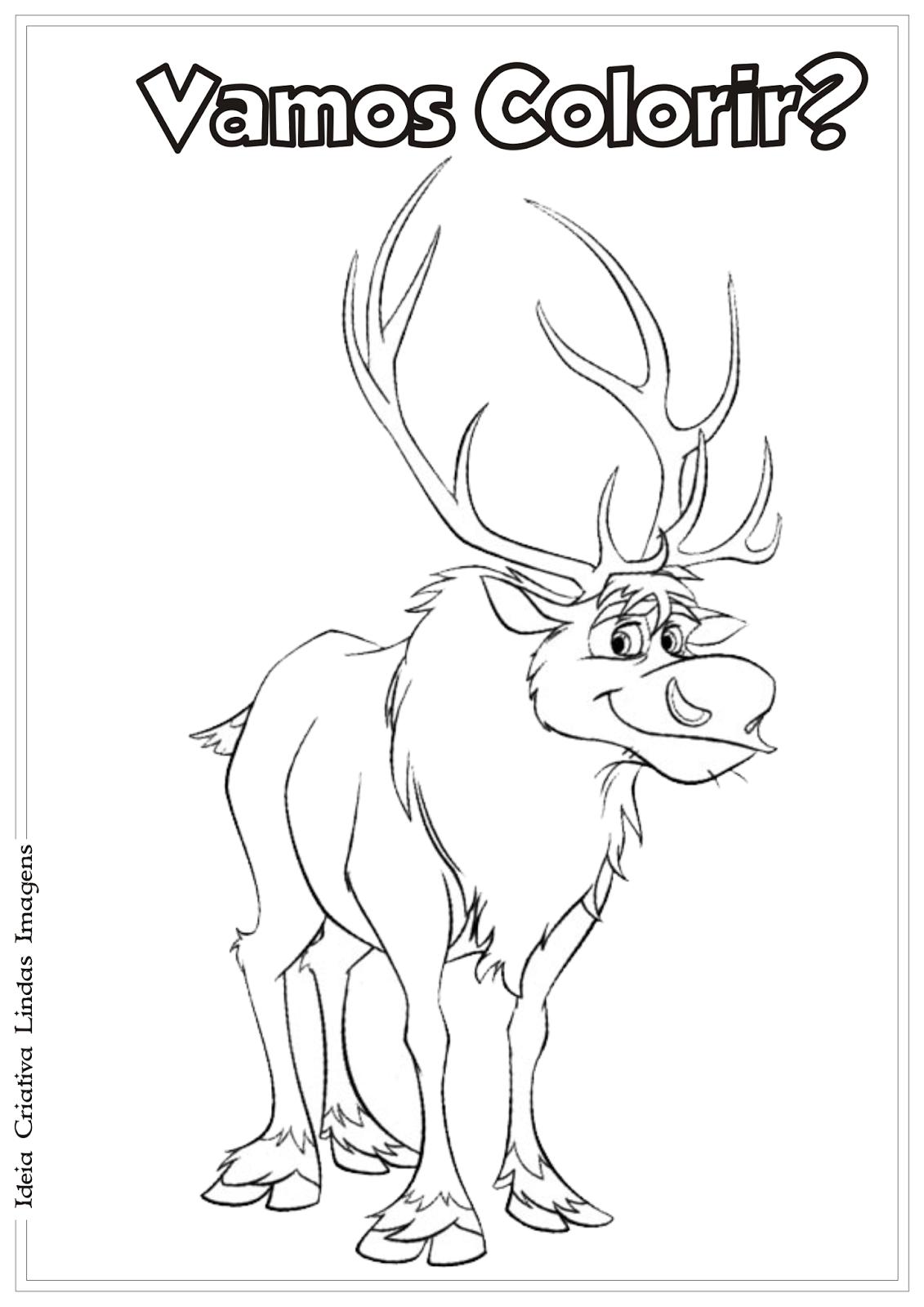 Frozen desenho para colorir