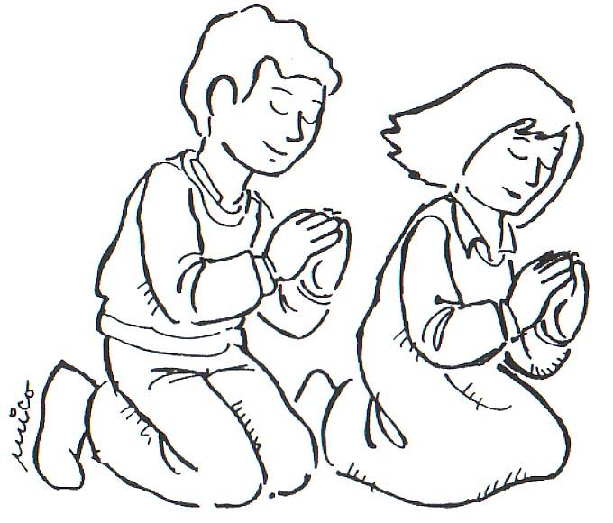 Dibujos de niños rezando - Imagui
