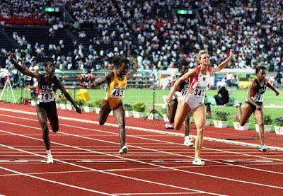 Katrin Krabbe, final de 100 metros - Tokio 1991