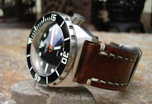 Armida A1 'SuperDome' on Vintage D9 leather strap