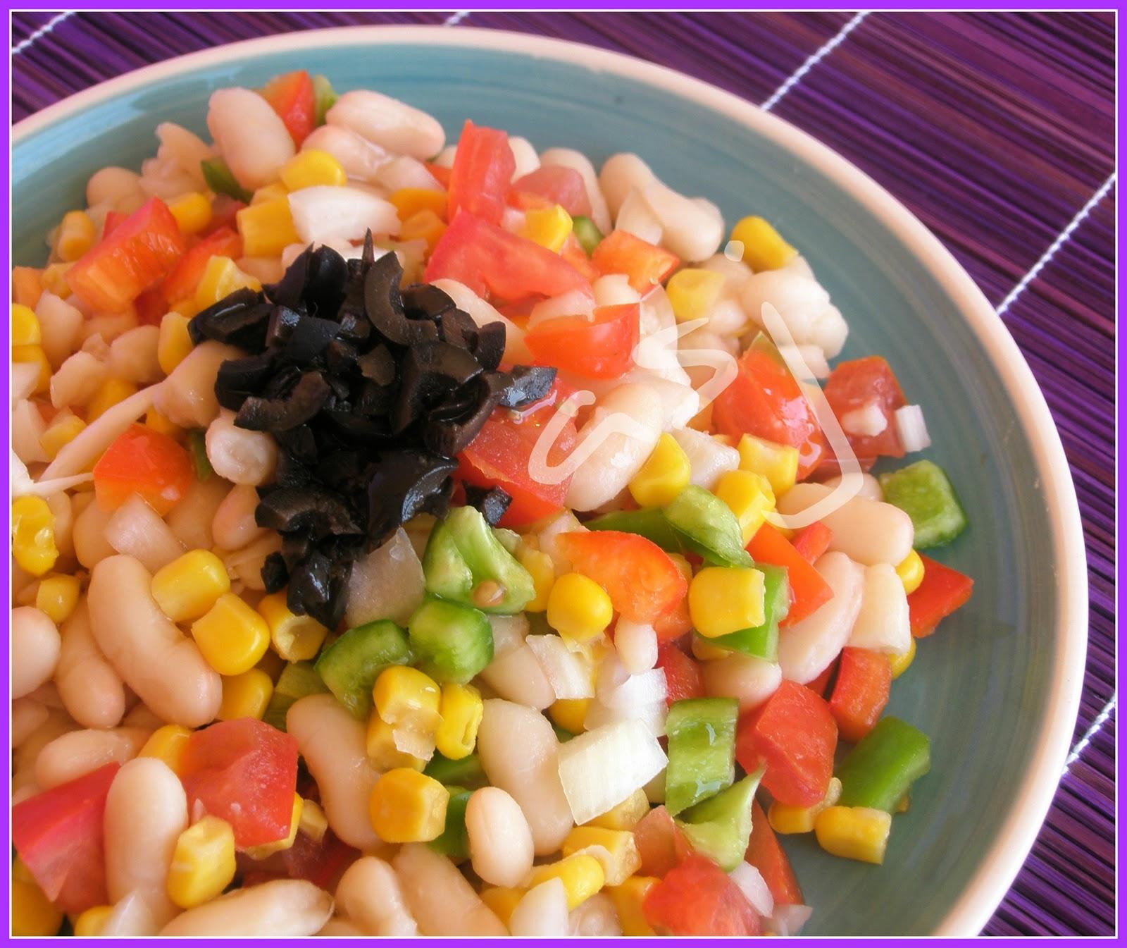 Canelita en rama ensalada de alubias con verdura - Ensalada de alubias ...