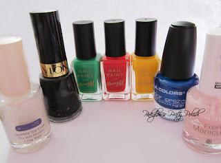Olympic coloured nail polish