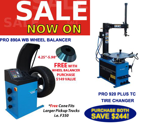 tire machine and balancer combo