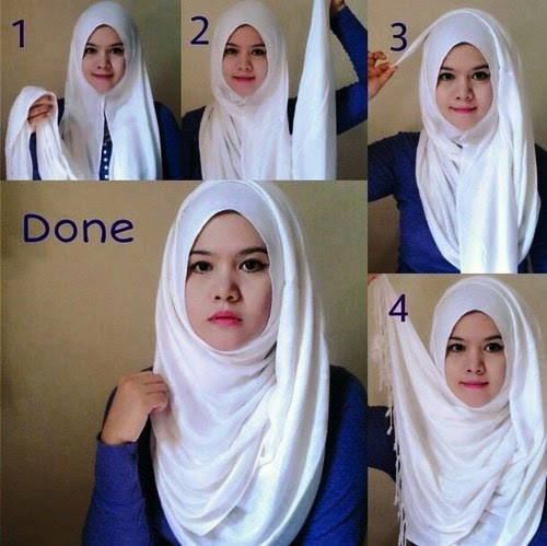Cara Memakai Tutorial Cara Pakai Jilbab Jilbab Pashmina Dan Gambar ...