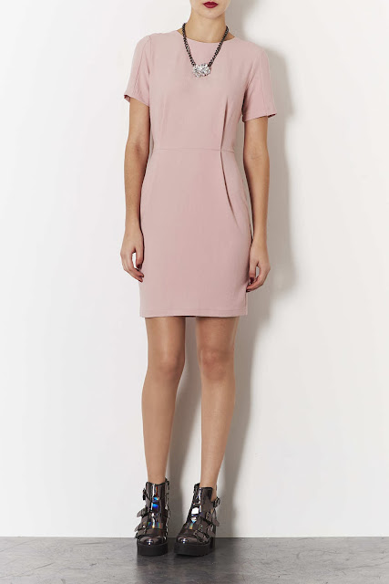 nude shift dress