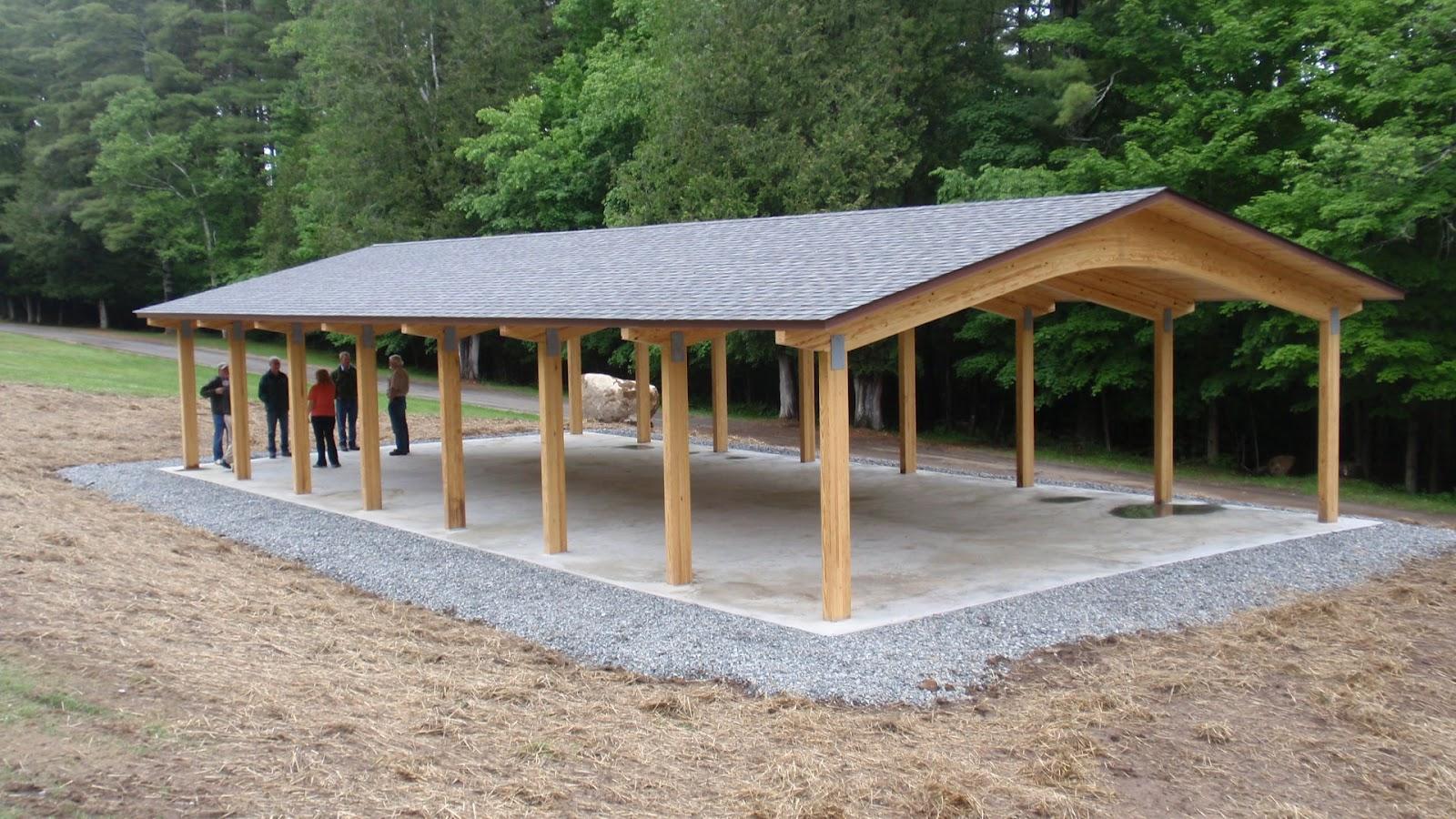 Wood Picnic Shelter : New picnic shelter wood times