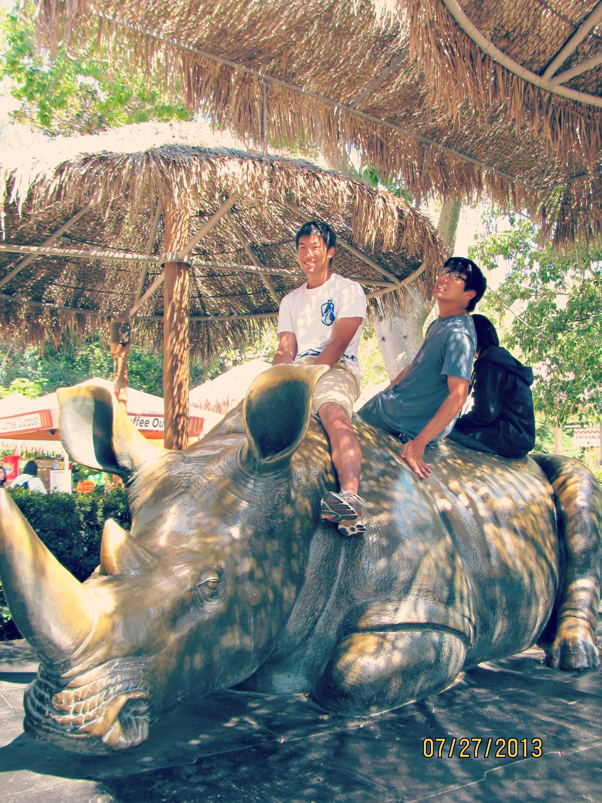 San Diego Safari Park // Rhino Statue