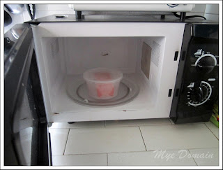 Food in a plastic container ( microwave safe )