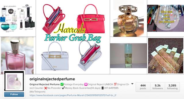 (Info) Kenapa Perfume Dan Minyak Wangi Reject Lebih Murah instagram