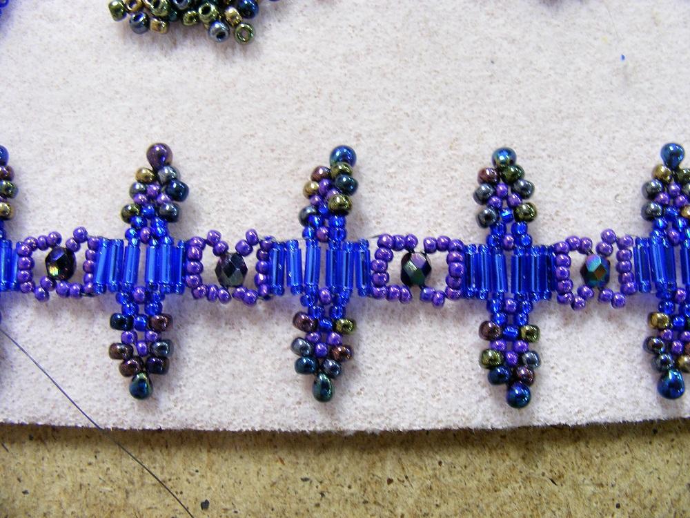 Bugle beads embroidery makaroka