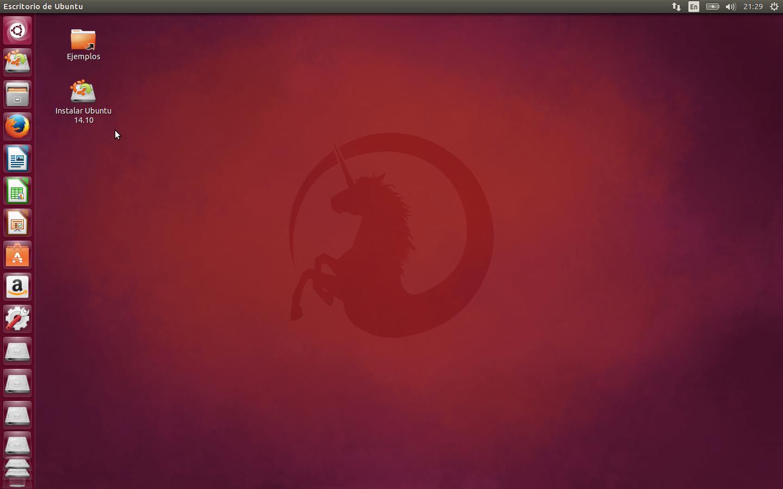 Escritorio Ubuntu 14.10