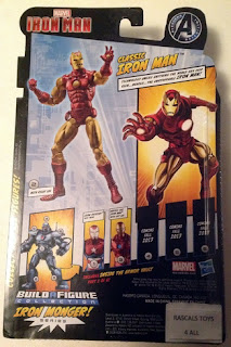 Hasbro Marvel Legends Iron Man - Classic Iron Man in Package - back