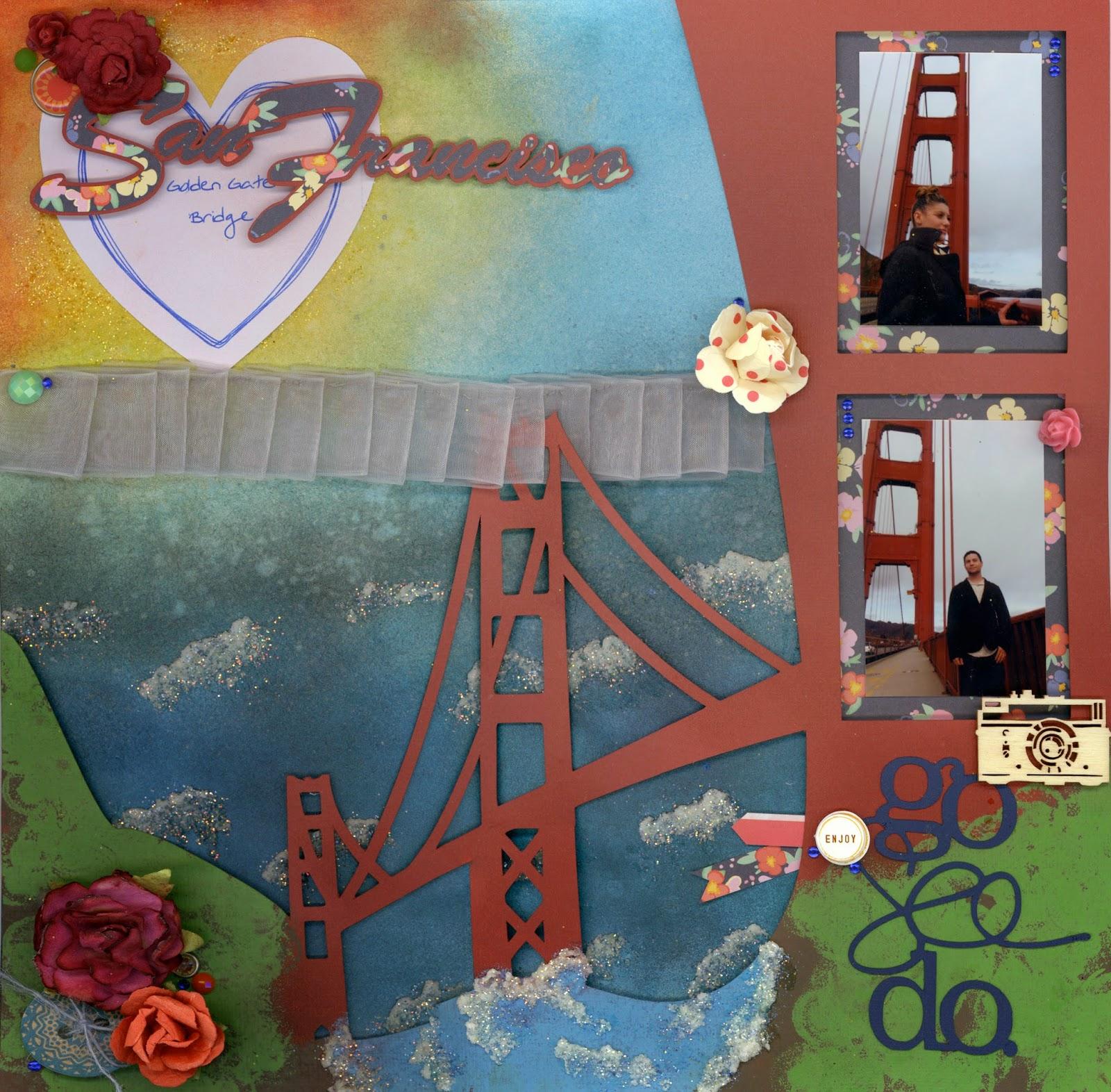 mixed media lo golden gate bridge