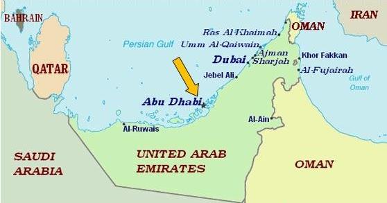 Christophers Expat Adventure Abu Dhabi United Arab Emirates – Abu Dhabi Country Map