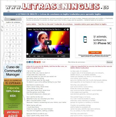 www.letraseningles.es/