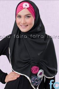 Faira Jilbab BA 378 - Hitam (Toko Jilbab dan Busana Muslimah Terbaru)