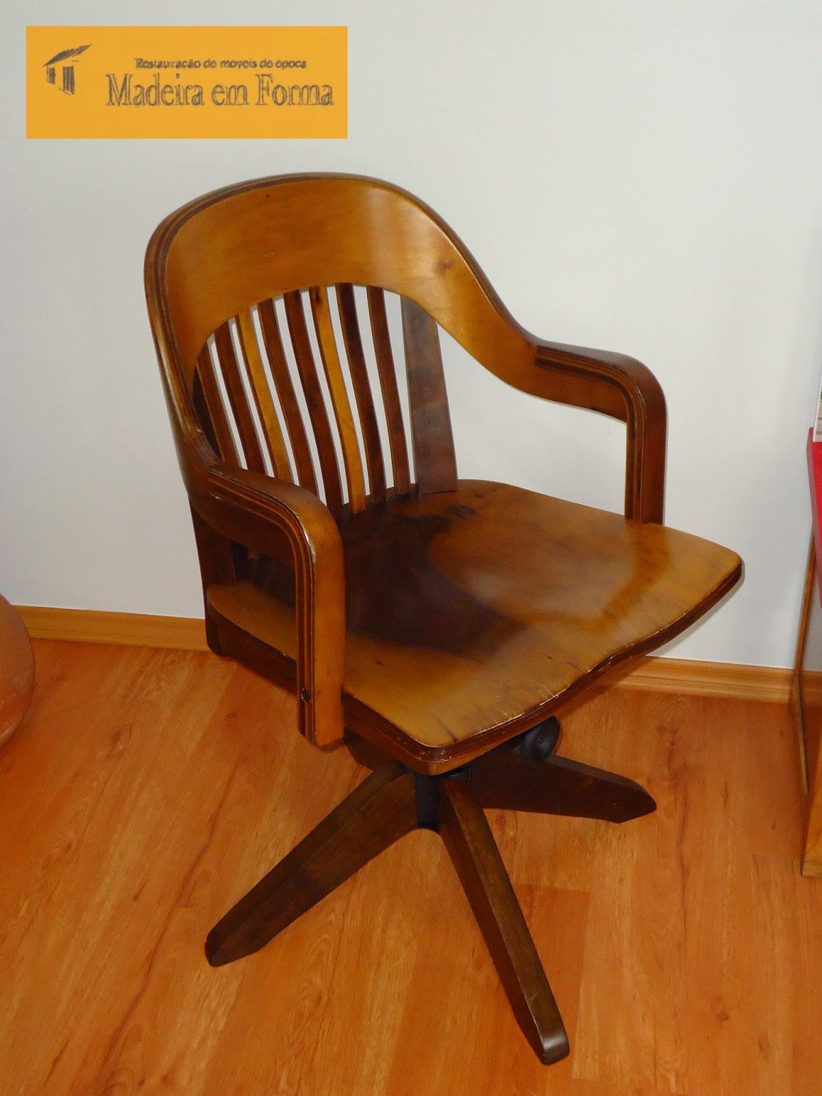 Restauração de Móveis de Época : Cadeira Cimo giratória  #AF4F0E 1200x1600