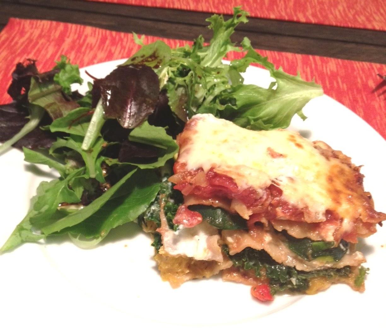 Stuff We Ate: Roasted Butternut Squash & Kale Lasagna