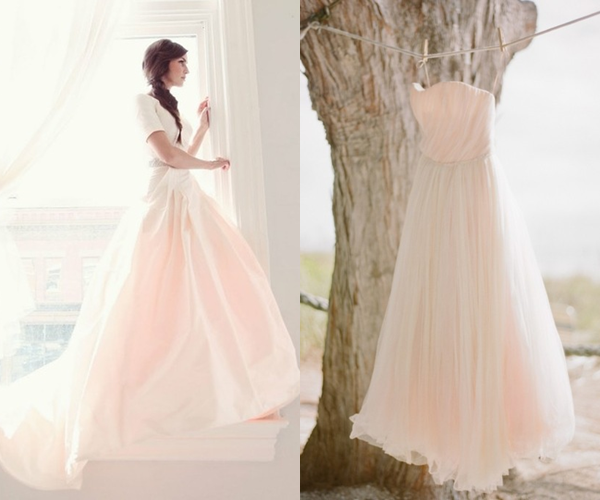 Pemberley rose inspired by pink wedding gowns for Pink ombre wedding dress