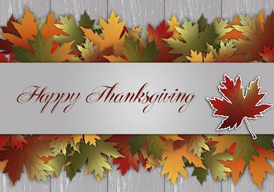 fall leaves: Happy Thanksgiving