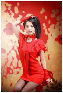 Seo You Jin Korean Sexy Model hot red mini robe 13