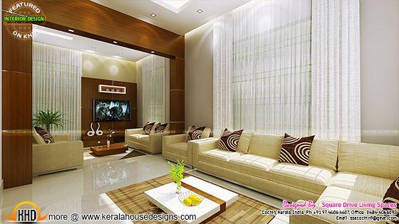 Living room interior, Kerala