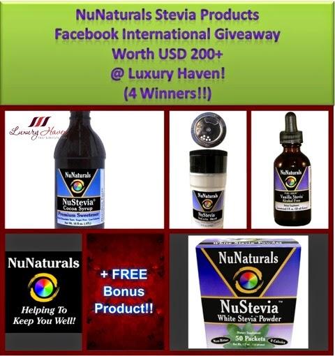 NuNaturals Stevia Facebook Int'l Giveaway!