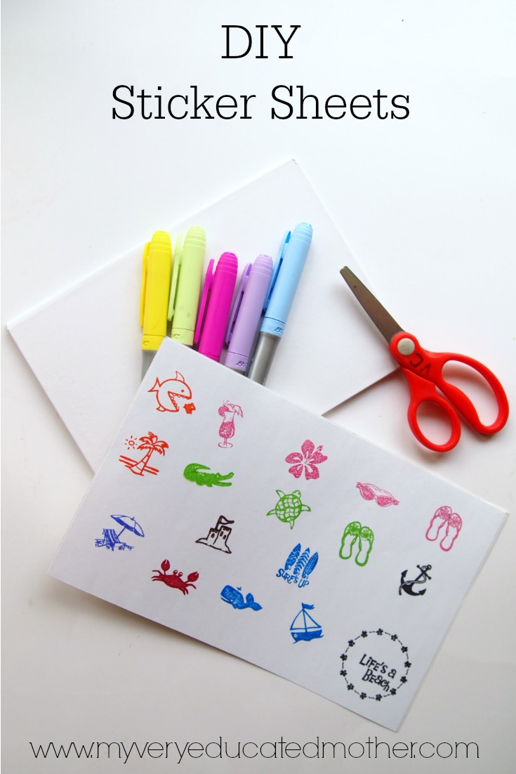 Make your own sticker sheets, perfect for journaling!