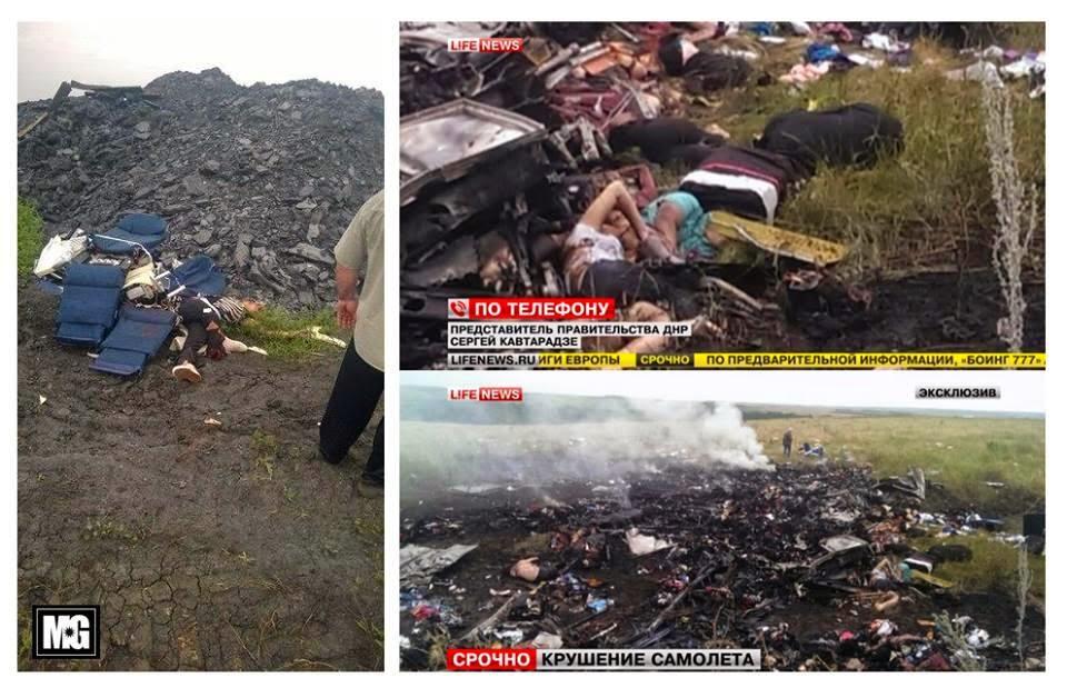 Gambar Serpihan MH17 Di Ukraine