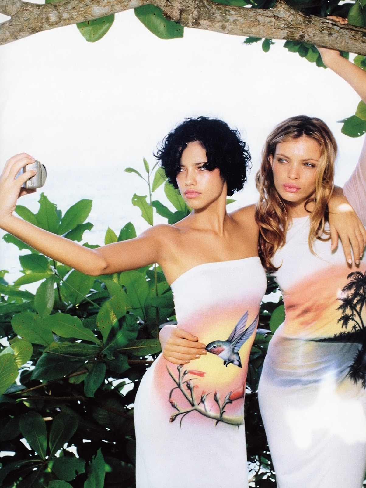 Adriana Lima & Esther Canadas in Heat seekers / Vogue UK June 1999 (photography: Elle von Unwerth) / via fashioned by love british fashion blog