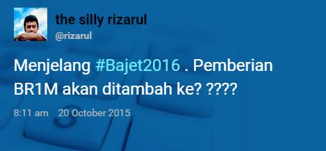 #Bajet2016 Tweet Pilihan