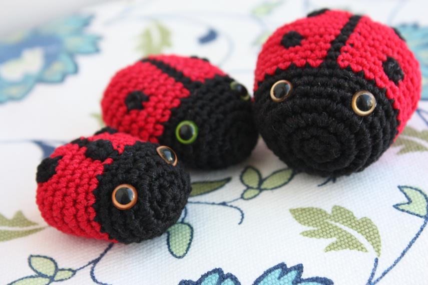 Amigurumi Ladybug : HAPPYAMIGURUMI: Amigurumi butterfly, ladybug, bee ...