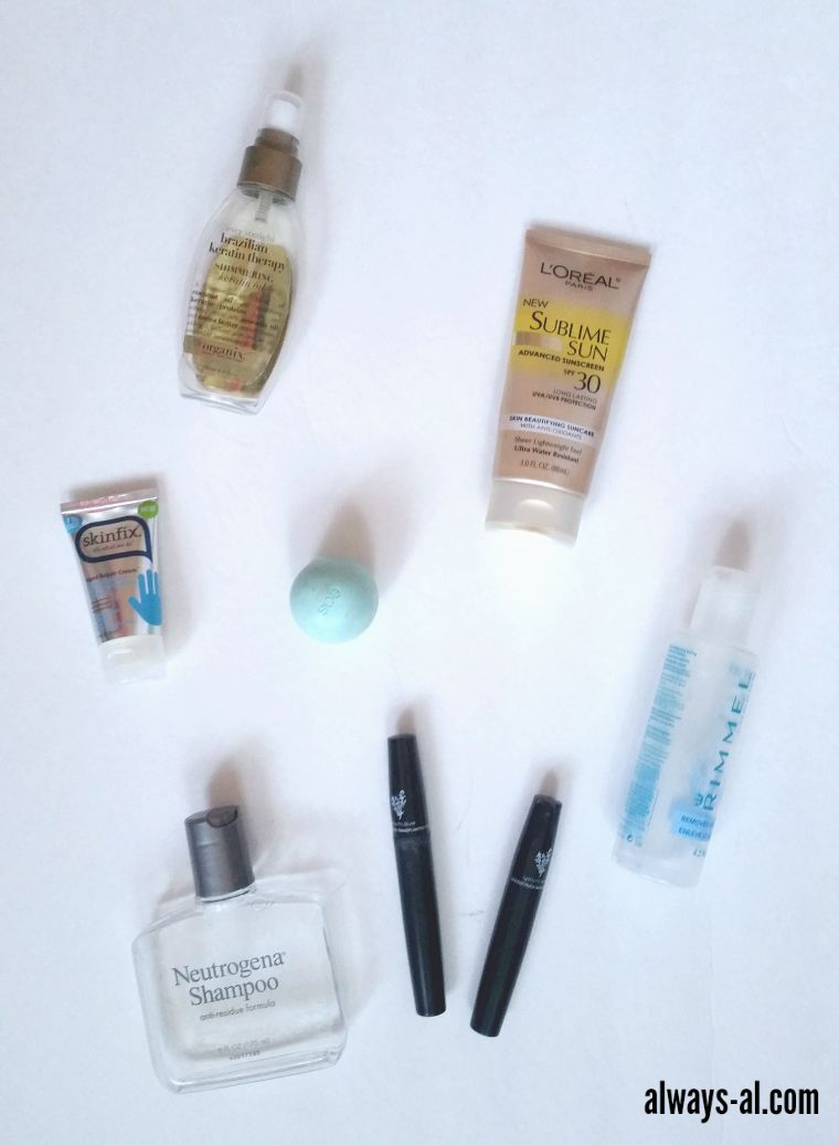 July and August Beauty Empties