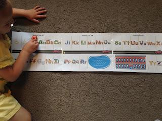 letter review activity for preschooler