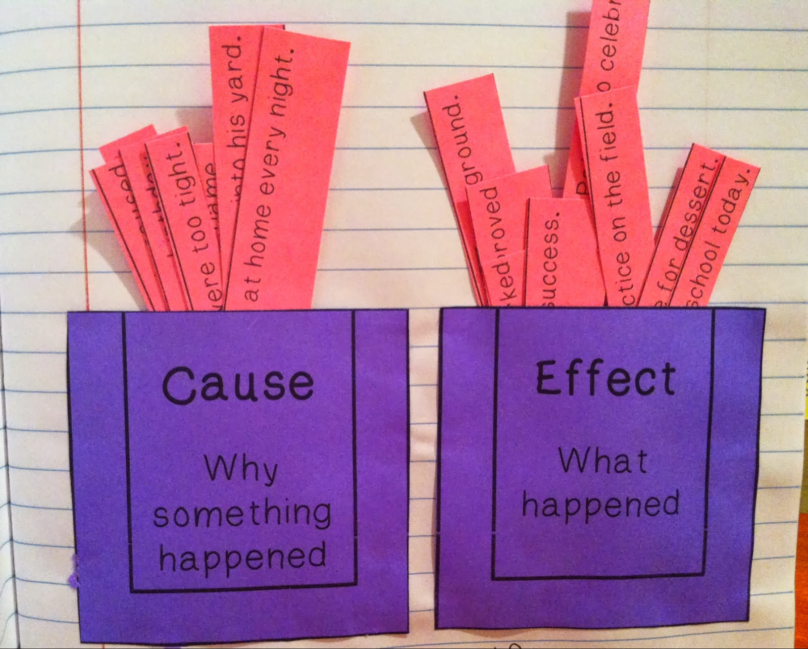 cause and effect essay lesson plan