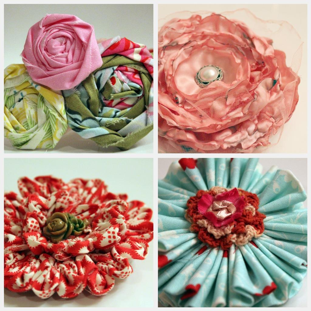 CreatIvE mInD p Fabric Flowers