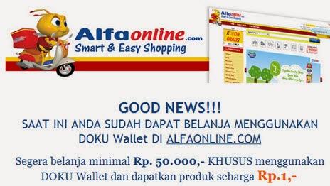 Tempat belanja online murah hanya di alfaonline.com promo heboh jual barang Rp 1