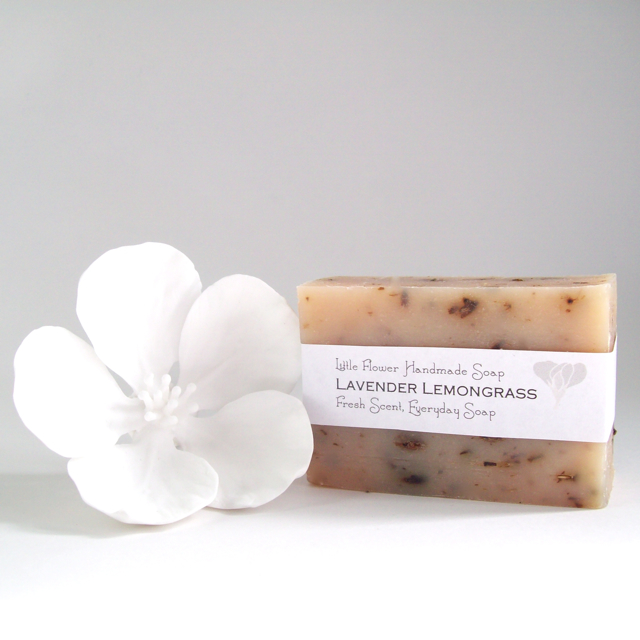 all natural soap organic lavender flowers lavender lemongrass the little flower soap made in michigan detroit ann arbor sweet pea floral design made with cocoanut oil and olive oil soap cold process soap farmhouse soap farmhouse kitchen farmhouse bathroom natural organic body care lavender essential oil
