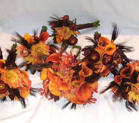 Wedding flowers wedding flowers fall for Autumn flower decoration