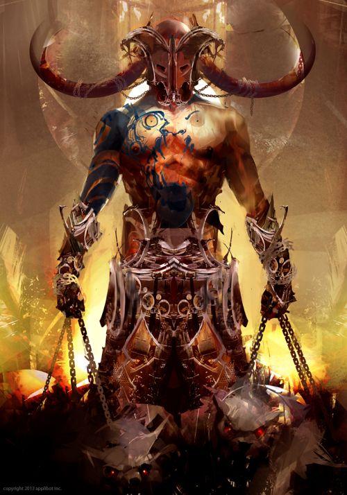 Richard Anderson flaptraps arte conceitual ilustrações pinturas games fantasia ficção científica Deus do inferno