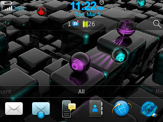 3D Neon Ball Animation Theme (9900/9930 OS7)