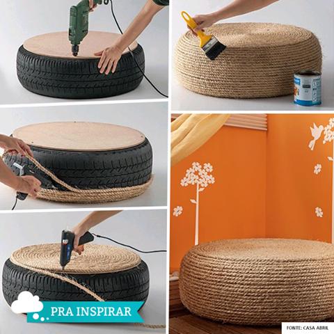 Reciclando com pneus - Muito Bom com sempre