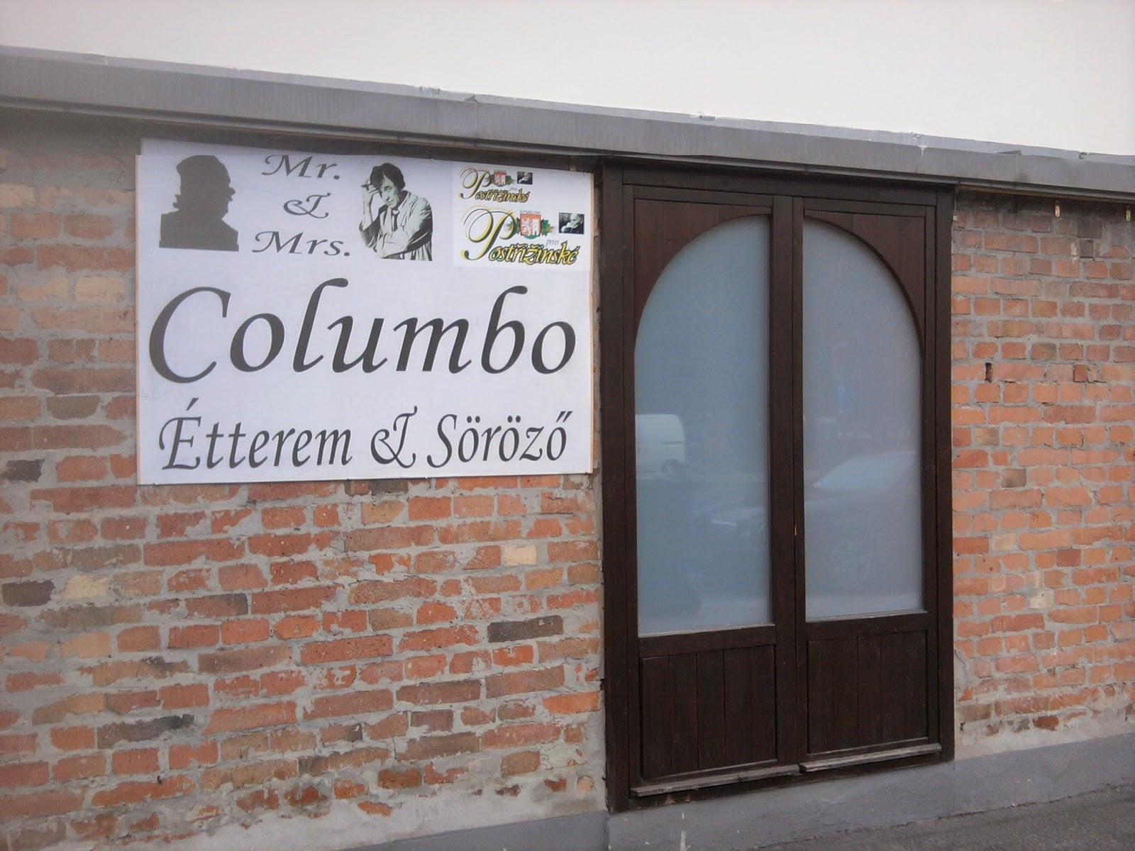 Columbo, étterem, Buda, Budapest, Peter Falk