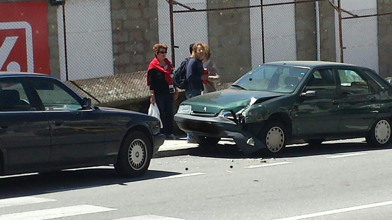 lugar en el que se produjo la colision de vehículos