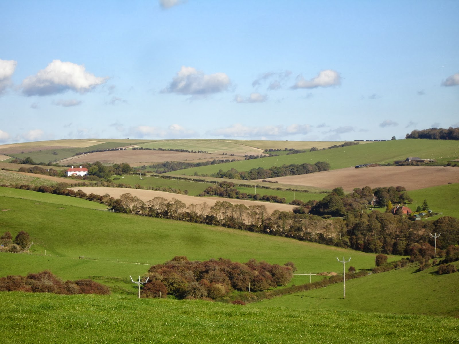 The Standean valley with Standean Farm