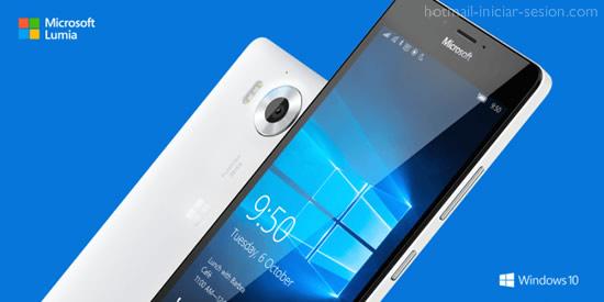 Lumia 950 iniciar sesion hotmail