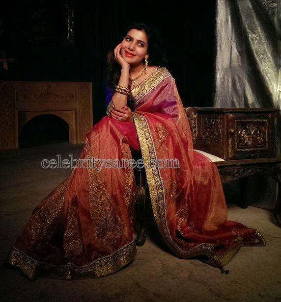 Samantha Dual Shaded Silk Saree