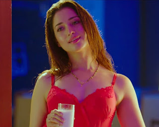 tamannah bhatia in red nighty dress   first night Navel Queens